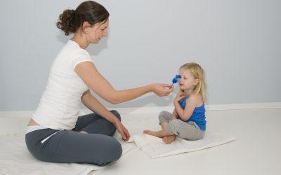Kindermassage oefening De Vulkaan